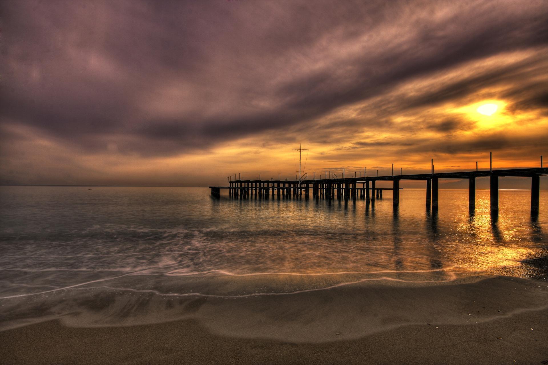 pier into ocean