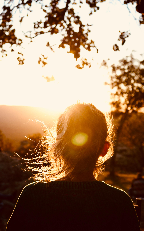 woman in sunlight